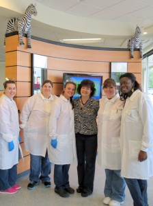 IDF Volunteer Victoria McCallum with the staff at CSL Plasma in Greenville, SC