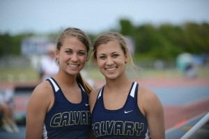 Emily (left) and Amanda in 2013 at the FHSAA 1 Outdoor State Finals.